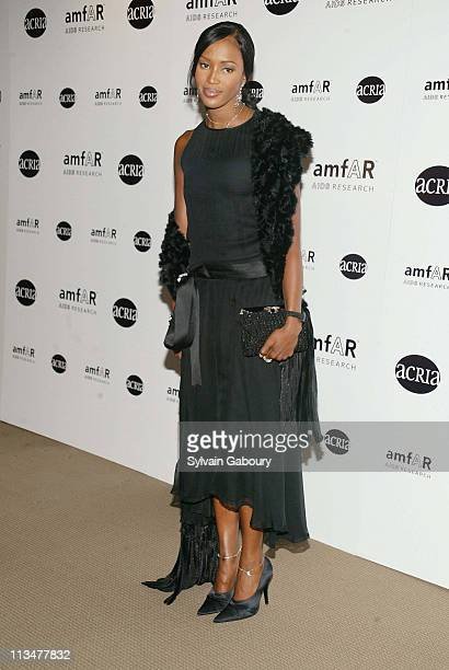Naomi Campbell during amfAR and ACRIA Honor Herb Ritts for His Work and Activism at Sotheby's in New York New York United States