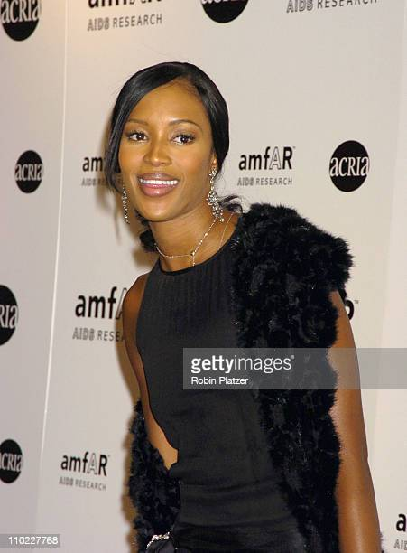 Naomi Campbell during amfAR and ACRIA Honor Herb Ritts with a Sale of Contemporary Artwork Arrivals at Sothebys in New York New York United States