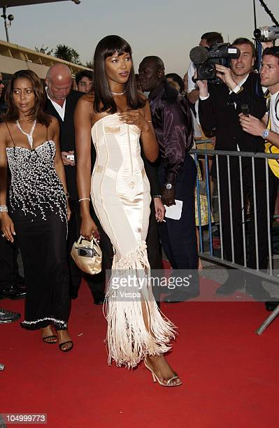 """Naomi Campbell during Cannes 2002 - """"Gangs of New York"""" Party at Baoli in Cannes, France."""