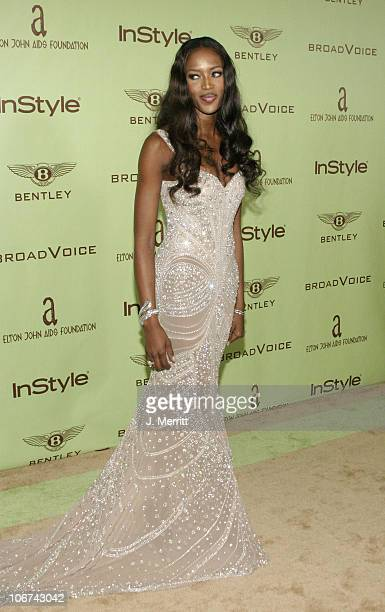 Naomi Campbell during Elton John AIDS Foundation's 12th Annual Oscar party cohosted by In Style Arrivals at Pearl in West Hollywood California United...
