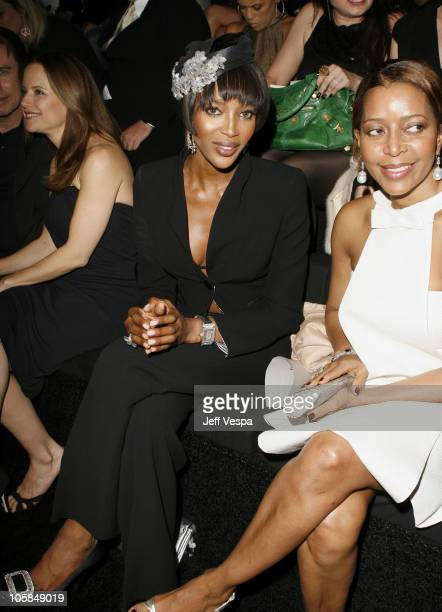Naomi Campbell during Giorgio Armani Prive in LA Front Row at Green Acres in Los Angeles California United States