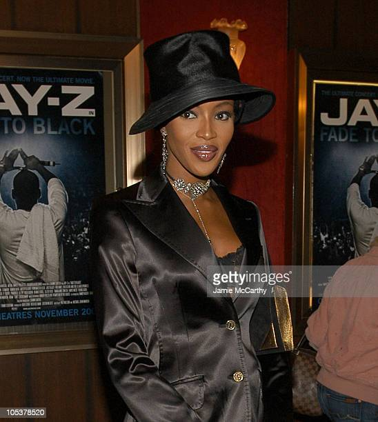 """Naomi Campbell during """"Jay-Z Fade To Black"""" Premiere - Inside Arrivals at Ziegfeld Theater in New York City, New York, United States."""