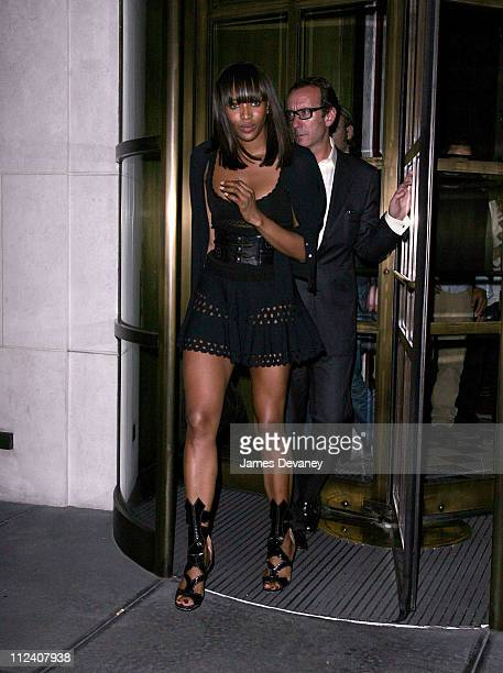 Naomi Campbell during Kate Moss Cameron Diaz and Naomi Campbell Sighting At Gramercy Park Hotel May 8 2007 at Gramercy Park Hotel in New York City...