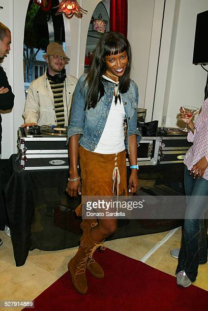 Naomi Campbell during Lola Cosmetics and Lucky Magazine Party in Los Angeles California United States