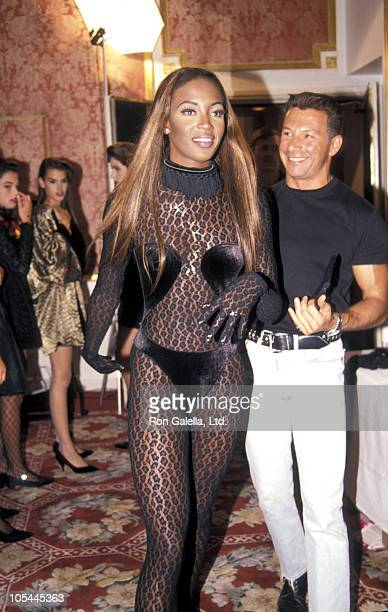 Naomi Campbell during Maybelline Presents 1991 Look of the Year at Plaza Hotel in New York City New York United States