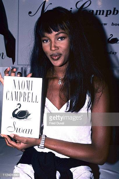 Naomi Campbell during Naomi Campbell Promotes her Book 'Swan' in London August 1 1994 at London in London Great Britain
