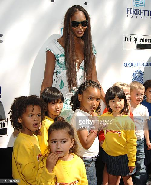 Naomi Campbell during Naomi Campbell's Le Carnival D'Or Luncheon in Aid of The Nelson Mandela Children's Fund at Palm Beach in Cannes France