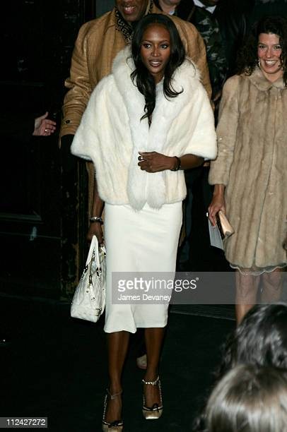 Naomi Campbell during Olympus Fashion Week Fall 2006 Marc Jacobs Arrivals at New York State Armory in New York City New York United States