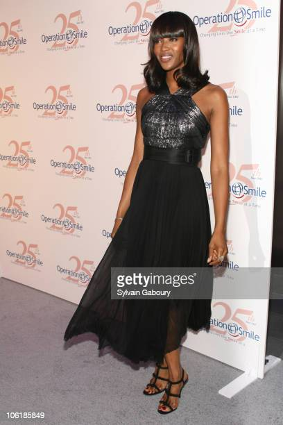 Naomi Campbell during The Operation Smile 25th Anniversary Smile Collection Couture Event Arrivals at 7 World Trade Center in New York City New York...