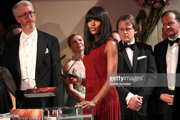 Naomi Campbell during the Semper Opera Ball 2015 at Semperoper on January 30 2015 in Dresden Germany