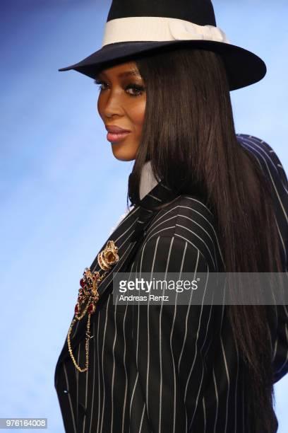 Naomi Campbell fashion details walks the runway at the Dolce Gabbana show during Milan Men's Fashion Week Spring/Summer 2019 on June 16 2018 in Milan...