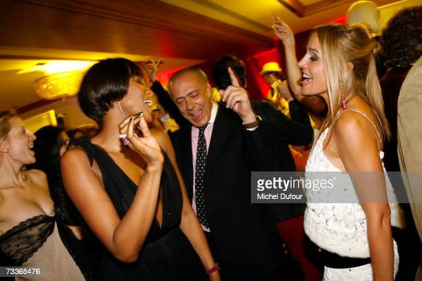 Naomi Campbell Fawaz Gruosi and Dona Bertarelli attend the De Grisogono Party hosted by Fawaz Gruosi at the Park Hotel on February 17 2007 in Gstaad...