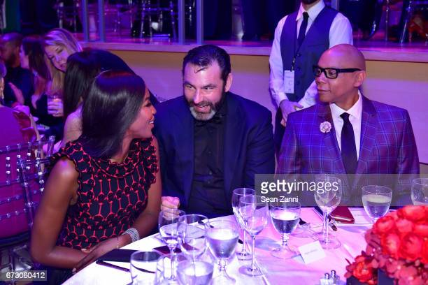 Naomi Campbell Georges LeBar and RuPaul attend the 2017 TIME 100 Gala at Jazz at Lincoln Center on April 25 2017 in New York City