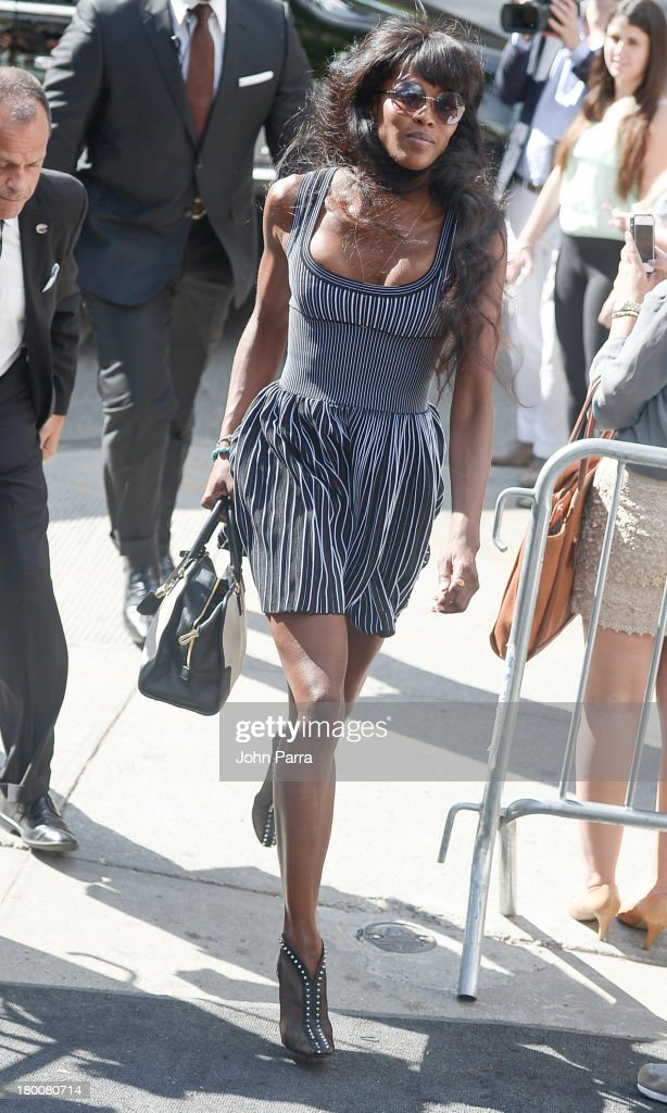Naomi Campbell is seen around Lincoln Center during Spring 2014 Mercedes-Benz Fashion Week on September 8, 2013 in New York City.