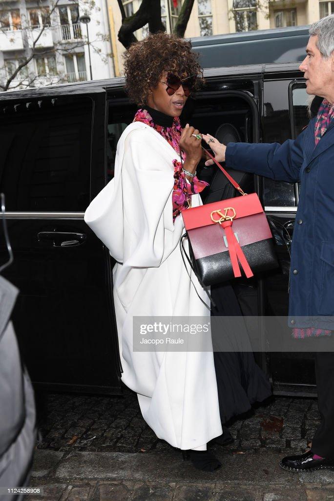 Celebrity Sightings - Paris Fashion Week - Haute Couture Spring Summer 2020 : Day Three : Foto di attualità