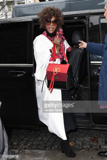 Naomi Campbell is seen arriving at Valentino fashion show during Paris Fashion Week Haute Couture Spring Summer 2020 on January 23 2019 in Paris...