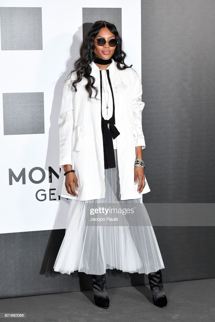 Naomi Campbell is seen at the Moncler Genius event during Milan Fashion Week Fall/Winter 2018/19 on February 20, 2018 in Milan, Italy.