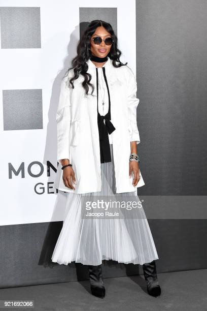 Naomi Campbell is seen at the Moncler Genius event during Milan Fashion Week Fall/Winter 2018/19 on February 20 2018 in Milan Italy