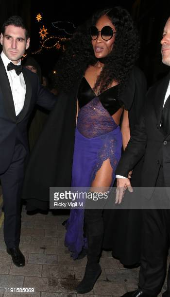 Naomi Campbell is seen attending Naomi Campbell Fashion Awards afterparty at Tramp on December 02 2019 in London England