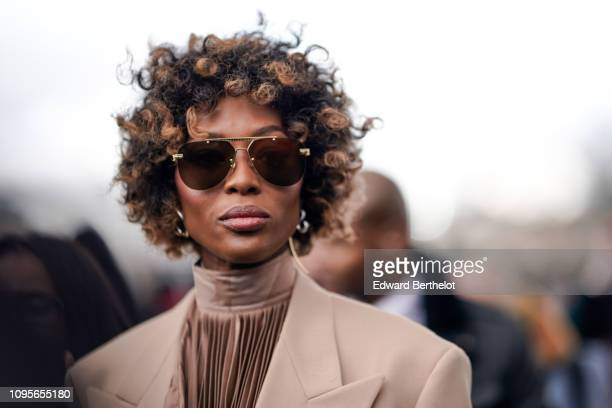 Naomi Campbell is seen outside Louis Vuitton during Paris Fashion Week Menswear F/W 20192020 on January 17 2019 in Paris France