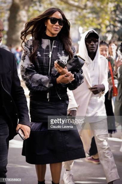 Naomi Campbell is seen outside the Sacai show during Paris Fashion Week Womenswear Spring Summer 2020 on September 30 2019 in Paris France