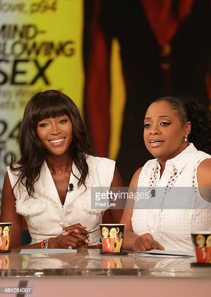 THE VIEW Naomi Campbell is the guest cohost and real life couple Megan Mullally and Nick Offerman are guests Friday April 11 2014 on ABC's 'The View'...
