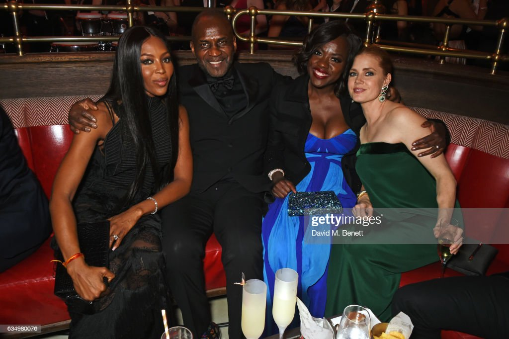 Naomi Campbell, Julius Tennon, Viola Davis and Amy Adams attend The Weinstein Company, Entertainment Film Distributors, Studiocanal 2017 BAFTA After Party in partnership with Ben Sherman, Kat Florence & Grey Goose at Rosewood London on February 12, 2017 in London, England.