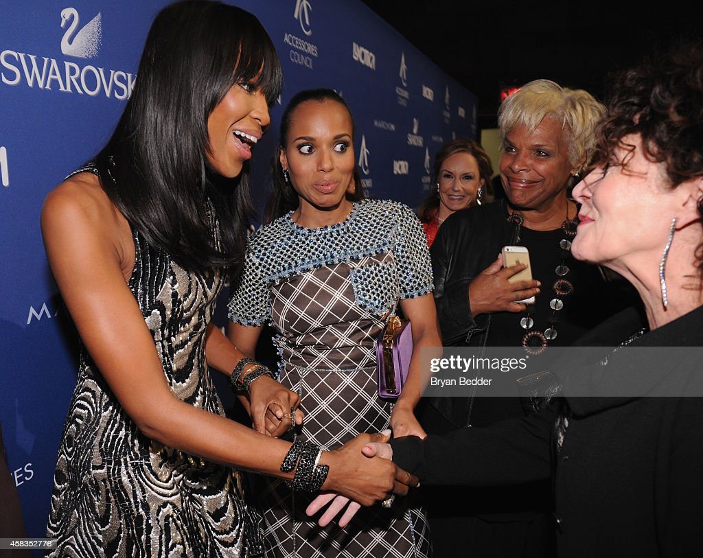 Naomi Campbell, Kerry Washington and costume designer Lyn Paolo attend the 18th Annual Accessories Council ACE Awards At Cipriani 42nd Street at Cipriani 42nd Street on November 3, 2014 in New York City.