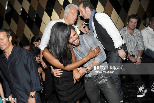 Naomi Campbell Lorenzo Martone Aby Rosen and Nicola Siervo attend Party at WALL Hosted by VITO SCHNABEL STAVROS NIARCHOS ALEX DELLAL at WALL at the W...