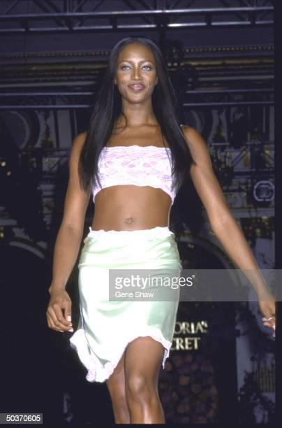 Naomi Campbell modelling lingerie for Victoria's Secret
