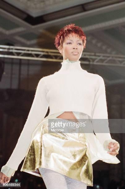 Naomi Campbell models John Rocha at London Fashion Week 1993 5th March 1993