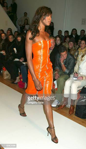 Naomi Campbell on the runway during Esteban Cortazar Fall 2003 Fashion Show at MAO Space in NYC in New York, NY, United States.