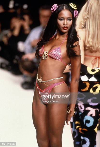 Naomi Campbell on the runway for the Chanel Spring 1995 fashion show circa 1994 in Paris France