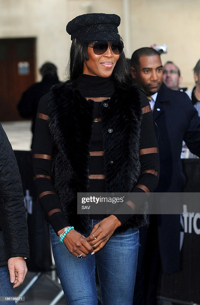 Naomi Campbell pictured at BBC Radio 1 on October 29, 2013 in London, England.