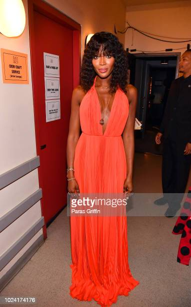 Naomi Campbell poses backstage during Black Girls Rock 2018 at NJPAC on August 26 2018 in Newark New Jersey