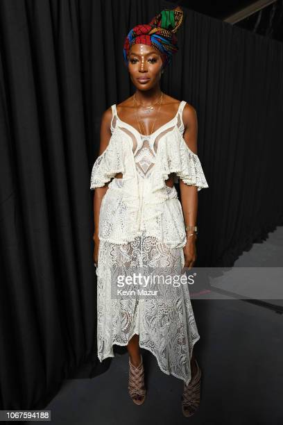 Naomi Campbell poses backstage during the Global Citizen Festival Mandela 100 at FNB Stadium on December 2 2018 in Johannesburg South Africa
