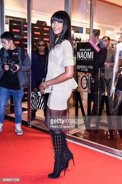 Naomi Campbell Presents New Yamamay Collection In Milan on February 7 2016 in Milan Italy