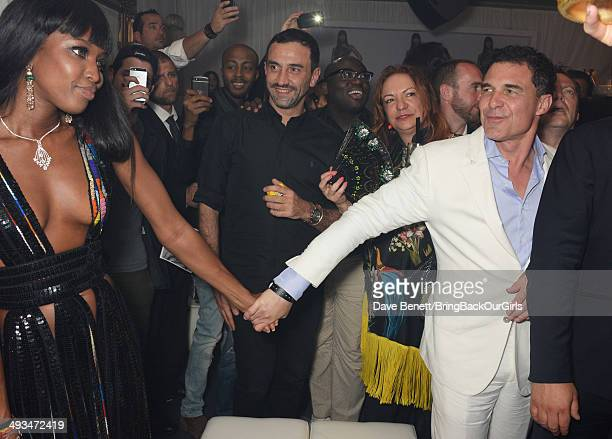 Naomi Campbell Riccardo Tisci and Andre Balazs attend Naomi Campbell's birthday party at the Billionaire Club Sunset Lounge on May 23 2014 in Monaco...