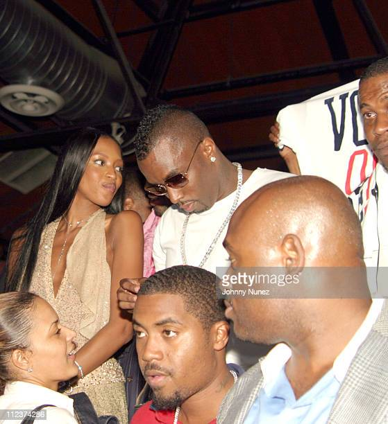Naomi Campbell Sean 'P Diddy' Combs Nas and Steve Stoute