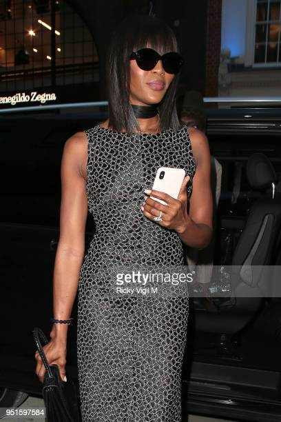 Naomi Campbell seen attending Azzedine Alaia flagship store launch party on April 26 2018 in London England