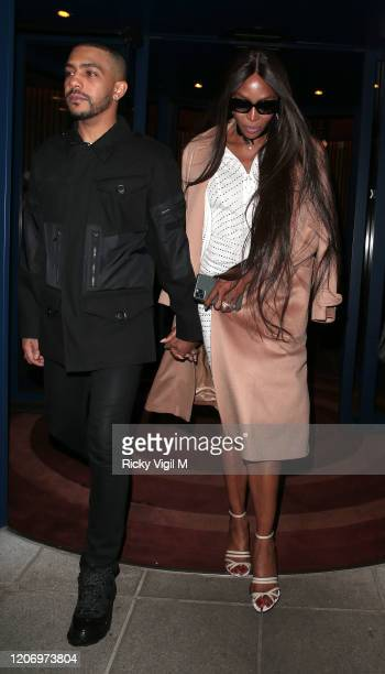 Naomi Campbell seen attending LOVE Magazine party at The Standard during LFW February 2020 on February 17 2020 in London England