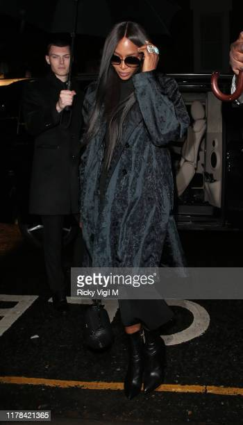 Naomi Campbell seen attending The Dior Sessions book launch afterparty on October 01 2019 in London England