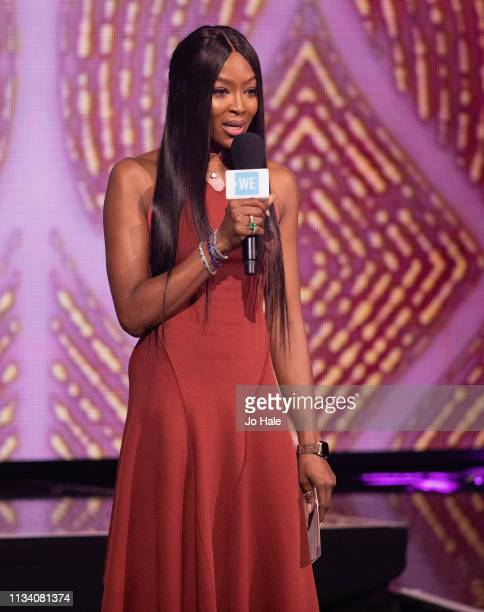 Naomi Campbell speaks on stage at We Day Uk at SSE Arena Wembley Arena at SSE Arena on March 06 2019 in London England