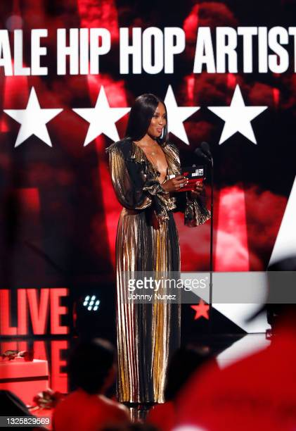 Naomi Campbell speaks onstage at the BET Awards 2021 at Microsoft Theater on June 27, 2021 in Los Angeles, California.