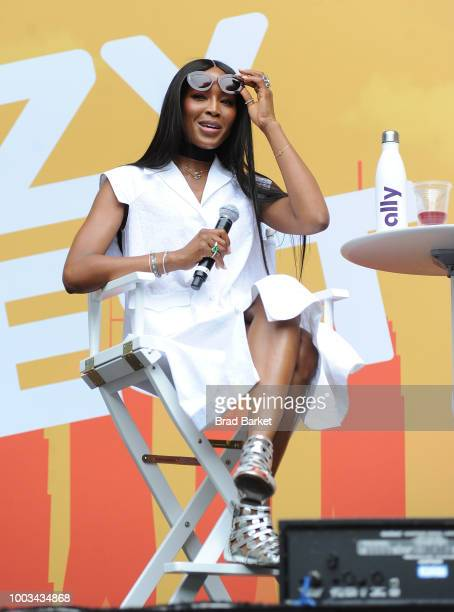 Naomi Campbell speaks onstage during OZY Fest 2018 at Rumsey Playfield Central Park on July 21 2018 in New York City