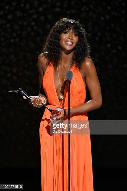 Naomi Campbell speaks onstage during the Black Girls Rock 2018 Show at NJPAC on August 26 2018 in Newark New Jersey