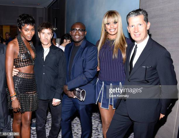 Naomi Campbell Steven Klein Edward Enninful Laverne Cox and Stefano Tonchi attend The Daily Front Row Second Annual Fashion Media Awards at Park...