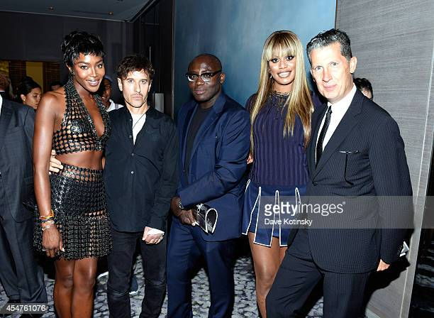 Naomi Campbell Steven Klein Edward Enninful Laverne Cox Stefano Tonchi attend The Daily Front Row Second Annual Fashion Media Awards at Park Hyatt...