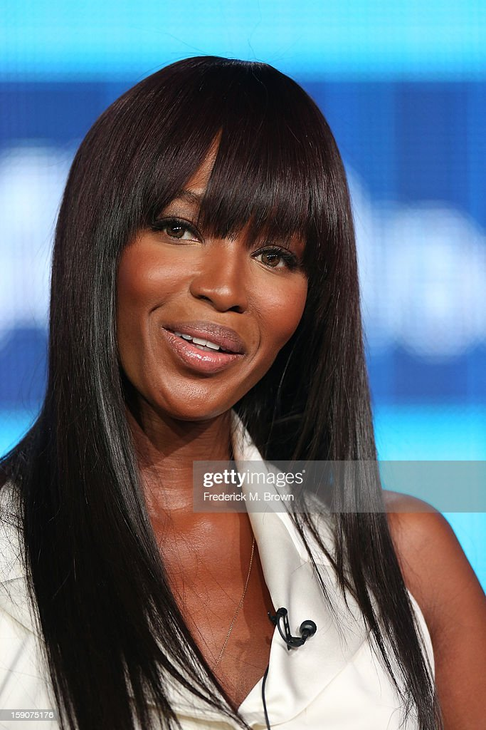 Naomi Campbell, Supermodel Coach and Executive Producer speaks onstage at the 'The Face' panel discussion during the Oxygen portion of the 2013 Winter TCA Tour- Day 4 at the Langham Hotel on January 7, 2013 in Pasadena, California.
