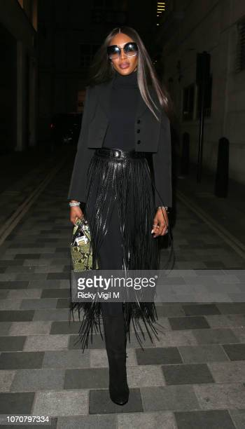 Naomi Campbell turned heads as she arrived at West African dining hot spot Ikoyi, London, tonight. The supermodel and activist stopped by at the...